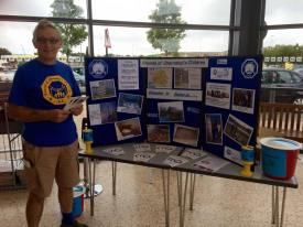 Tony spreading the word about FOCC Medway